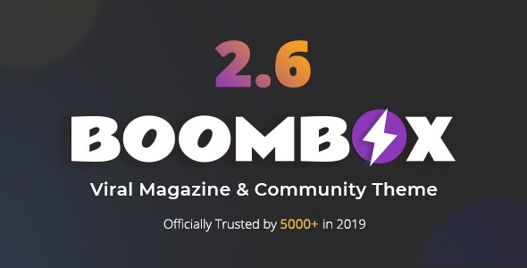 BoomBox template-viral Magazine WordPress Theme