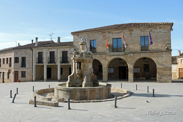 Plaza Mayor, Sasamón, Burgos