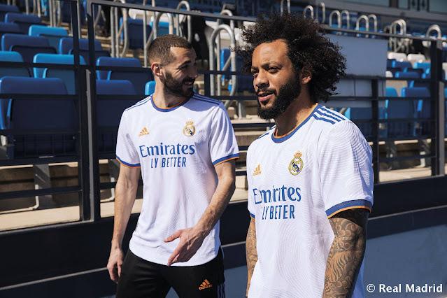 بنزيما ومارسيلو بقميص ريال مدريد الجديد 2021/2022
