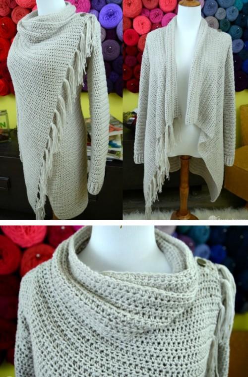 Blanket Cardigan - Free Crochet Pattern