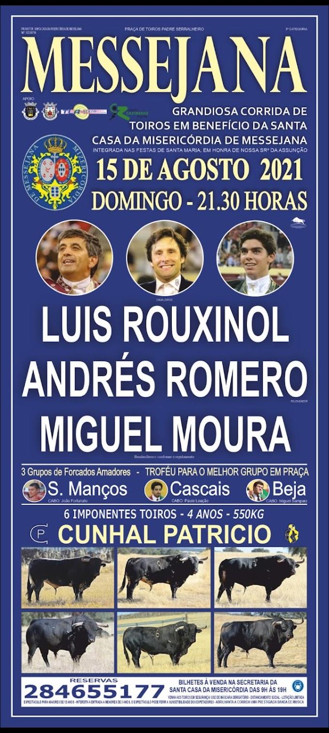 Rouxinol, Romero e Miguel Moura a 15 de Agosto na Messejana