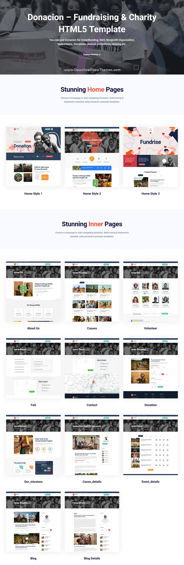 Fundraising & Charity Bootstrap Template