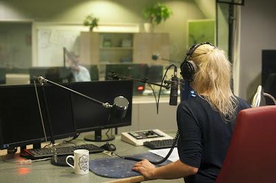 Radio presenter in a studio