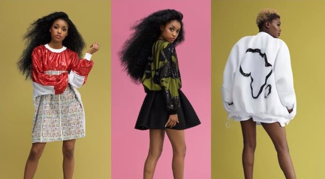 ... is the concept behind Innocente Messy's much anticipated S/S17 collection.  Celebrating Africa and all her components, the collection takes a powerful stand of unity to remind the world that AFRICA IS NOT A COUNTRY ... it's a CONTINENT.  With a total number of 54 countries, over 3,000 tribes and 2,000 languages spoken, Africa has a multitude of cultures, traditions and many facets.  AFRICA IS NOT A COUNTRY explores this in a fun, bright and edgy ready to wear collection with a hint of sportswear, through a red and black sequin fabric giving the collection an alluring sparkle. Digitally designed and printed with 54 of Africa's flags plus the African Continent using a hand-woven appliqué technique, the collection features the continent's most powerful and unifying image beautifully placed on each piece.  Take a look inside and explore why AFRICA IS NOT A COUNTRY.