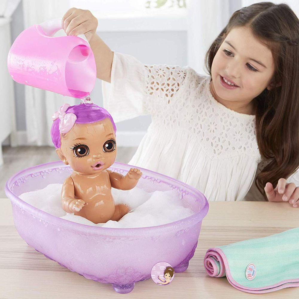 Doll with color-changing hair Baby Born Bathtub 20+ surprises