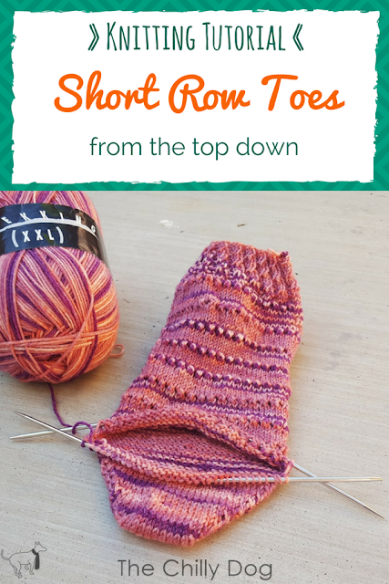 Knitting Video Tutorial: Learn how to knit short row sock toes from the top down.
