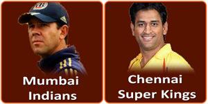 चैन्नई सुपर किंग्स बनाम मुम्बई इंडियन्स 21 मई 2013 को है।