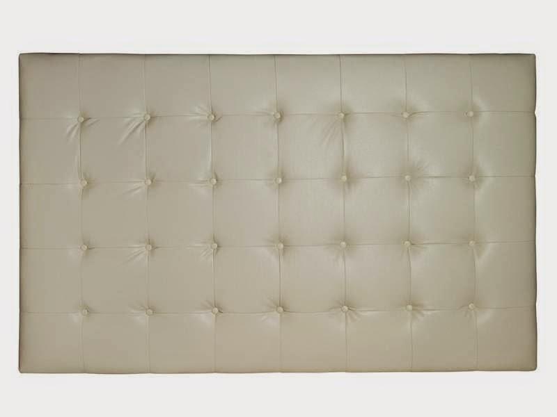Cabecero piel blanco crema de 150