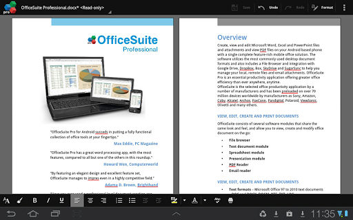 Download App OfficeSuite Pro 7 (PDF& Fonts) v7.4.1803 APK