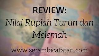Review Nilai Rupiah Turun dan Melemah - serambicatatan