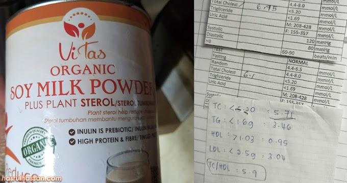 Turunkan Kadar Kolesterol Dengan Susu Kacang Soya Vitas Organic