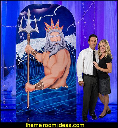 Poseidon and Trident Statue Standee party props  under the sea birthday party