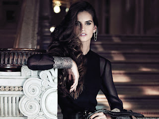 Izabel Goulart In Black Dress Wallpapers