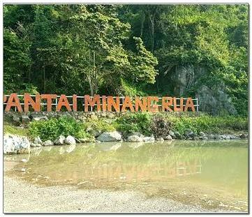 Pantai Minang Rua Kelawi Kabupaten Lampung Selatan Lampung