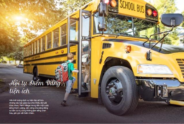 Hệ thống xe bus đưa đón trẻ đi học