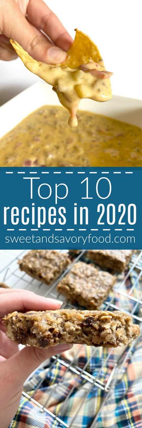 Top 10 Recipes of 2020...from easy desserts to dips and pizza. 2020 seems to be about comfort food! A great list of my blog's favorite recipes this past year