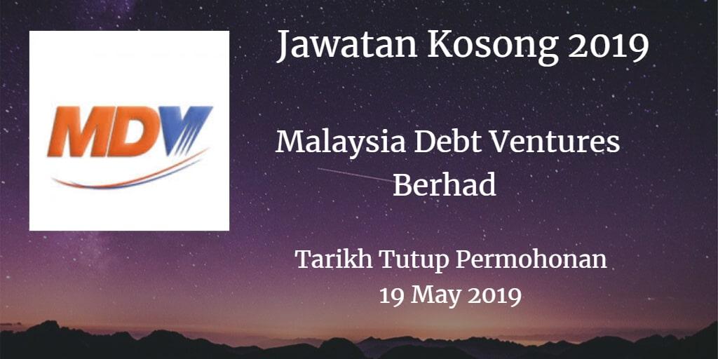 Jawatan Kosong Malaysia Debt Ventures Berhad 19 May 2019