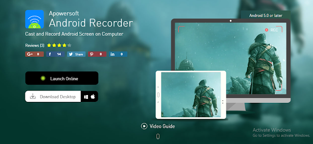Apowersoft Android Recorder Emulator Terbaik Untuk Bermain PUBG Mobile di PC