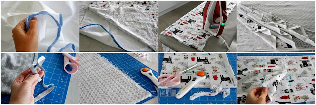 Step-by-step instructions for sewing a reversible double-sided flannel blanket