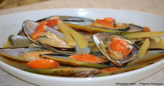 Ginisang Tahong (Sauteed Mussels) Recipe