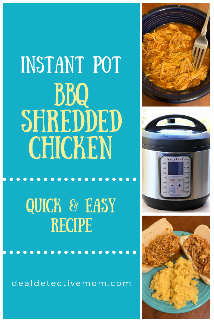This  BBQ Shredded Chicken was so easy to make and packed a very flavorful punch. It's also super easy to customize to your taste by switching up the brand of BBQ sauce. I love that I can throw frozen chicken into the pot and dinner is ready in 30 minutes.