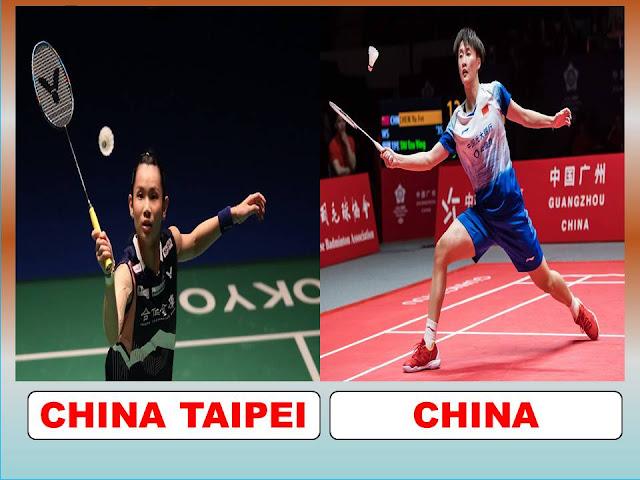 Link Streaming Olimpiade FINAL Bulu Tangkis Tunggal Putri, Chen Yufei Vs Tai Tzu ying