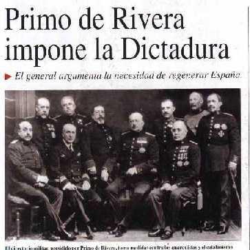 Comentario Manifiesto Miguel Primo de Rivera