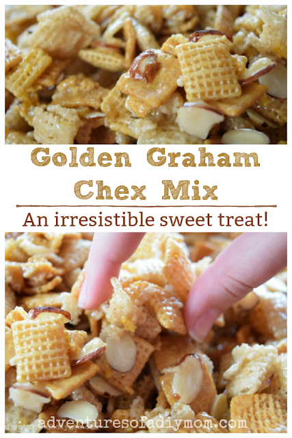 golden grahams chex mix - an irresistible sweet treat