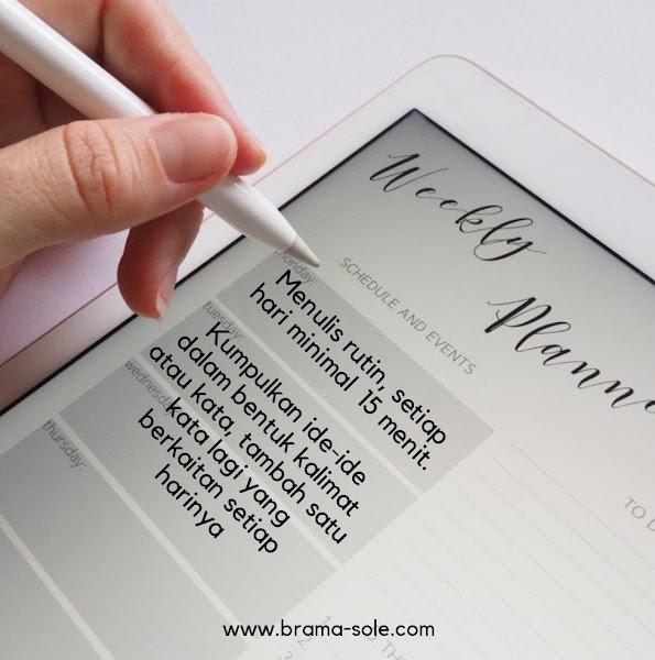 Tips agar bisa konsisten menulis