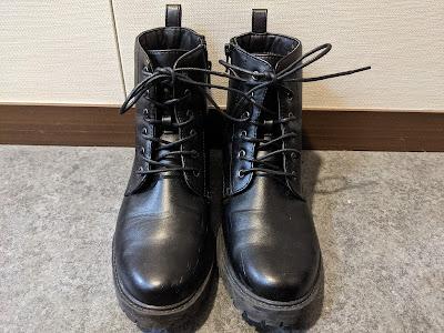 GUのブーツの靴紐が長い!!ので替えました