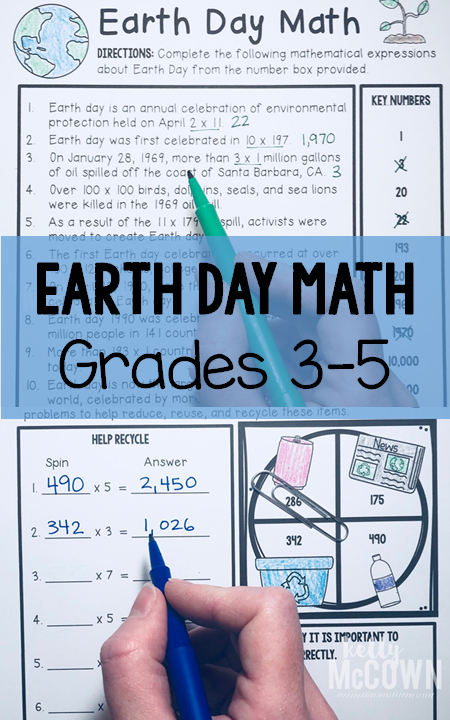 Kelly McCown: Earth Day Elementary Math Activities