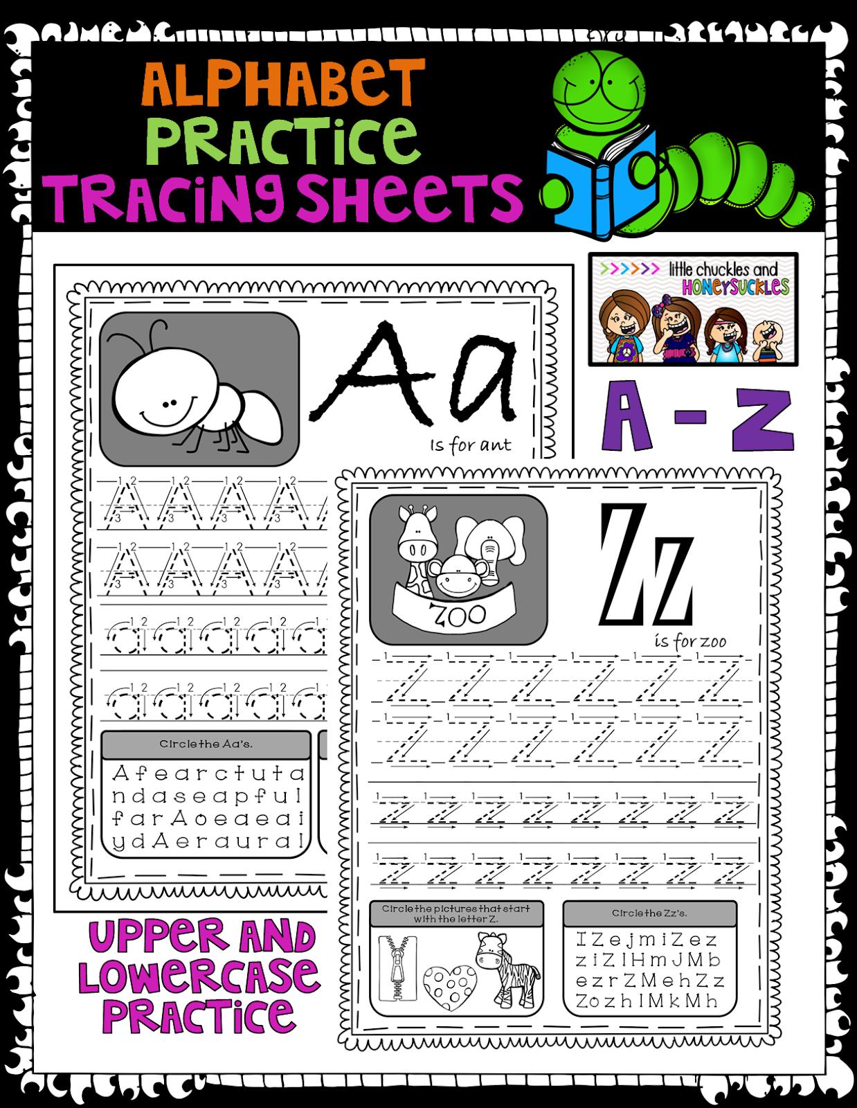 Littlechucklesandhoneysuckles Alphabet Worksheets And A