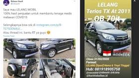 Youtuber Ridwan Hanif Beri Donasi Lawan Covid-19 Lewat Lelang Mobil, Ikut?