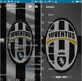 BBM MOD Juventus V3.0.1.25 Apk Update