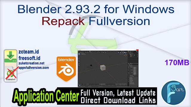 Blender 2.93.2 for Windows Repack Fullversion