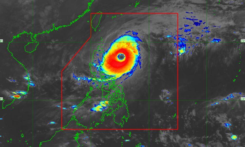 Satellite image of Typhoon 'Bising' as of 6:20 am, April 21, 2021