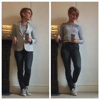 Paige Jeans with Zara blazer