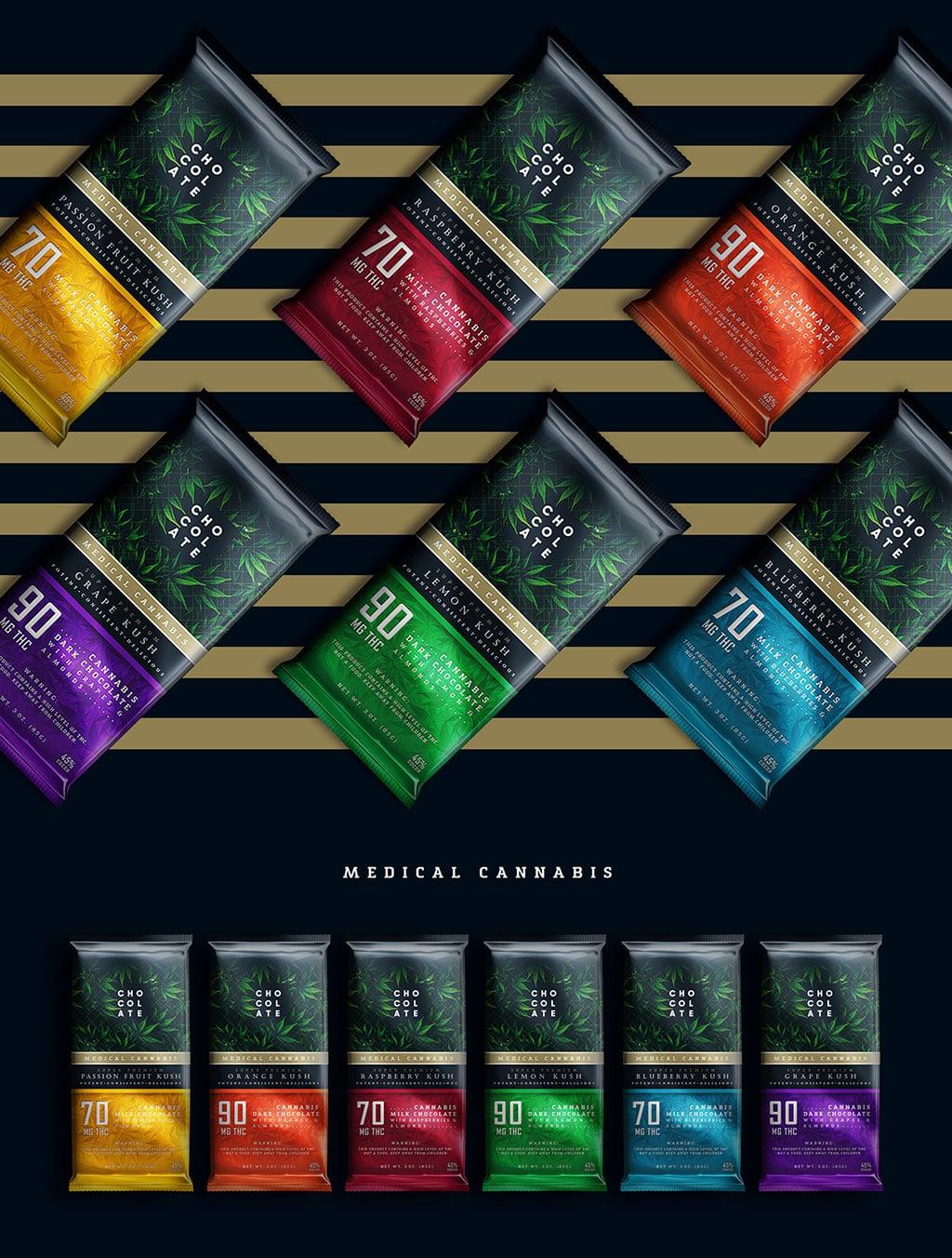 Inspirasi Desain Kemasan Packaging - MedicalCannabis Chocolate