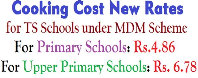 MDM,Cooking Cost New Rates,TS Schools