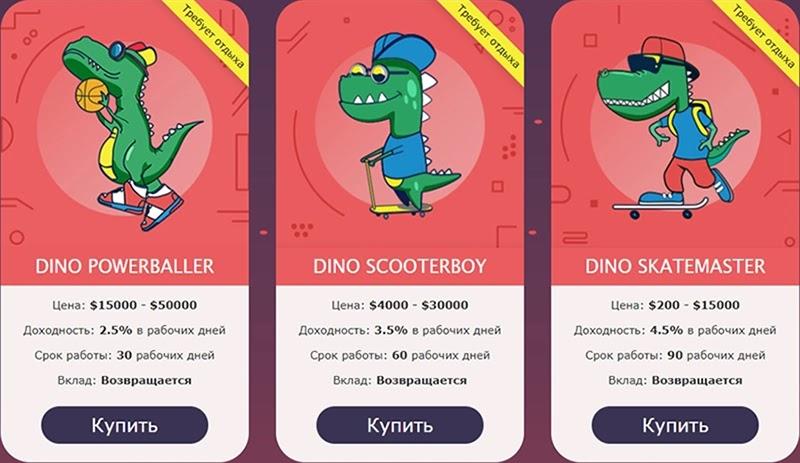 Инвестиционные планы CoolDino 3