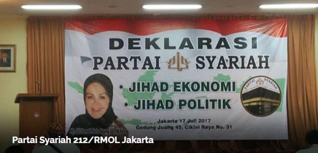 Sejumlah Alumni Aksi Bela Islam Deklarasikan Berdirinya Partai Syariah 212