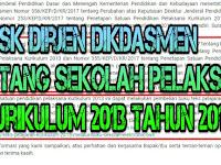 SK Dirjen Dikdasmen Tentang Sekolah Yang Melaksanakan Kurikulum 2013 Tahun 2017