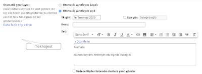 gmail otomatik yanitlayici