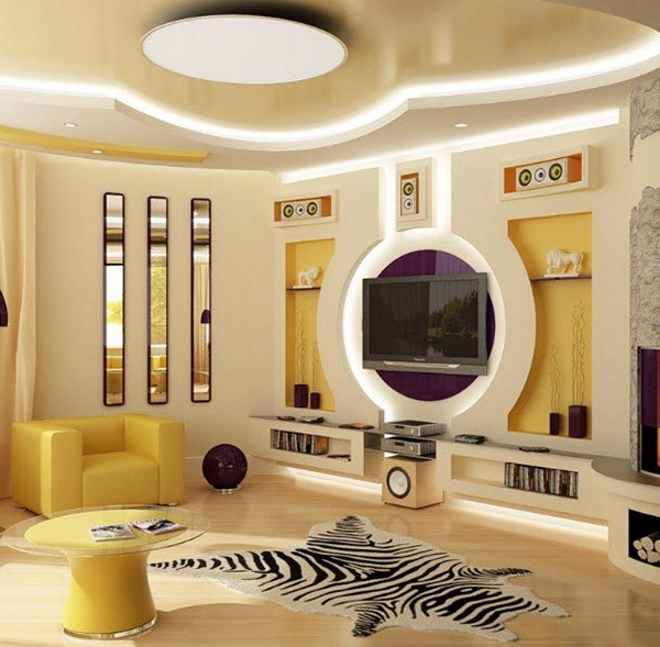 25 Decorative plasterboard wall designs and room dividers