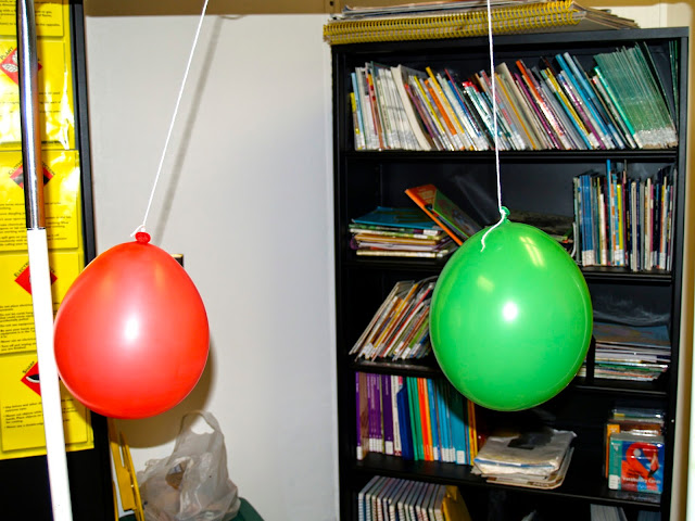 Static Electricity Balloons Repelling