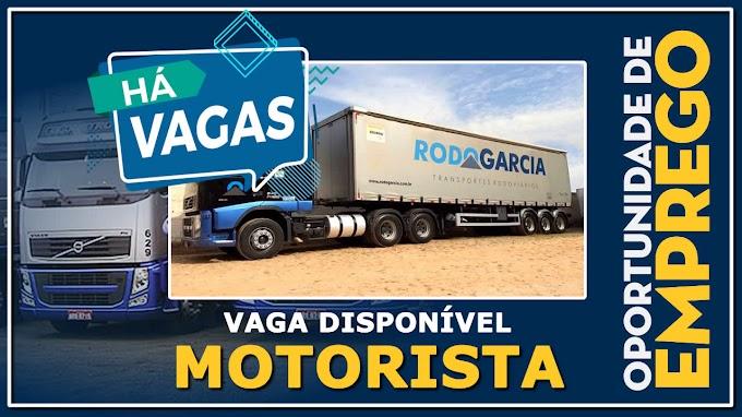 Rodo Garcia abre vagas para Motorista  Categoria C e D