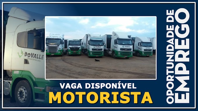 Transportadora Do Valle abre vagas para motorista carreteira