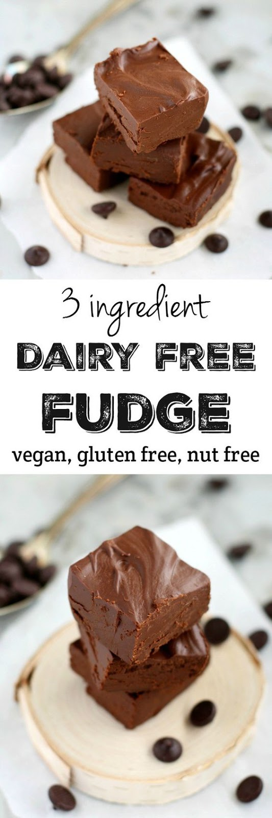 3 Ingredient Dairy Free Fudge.