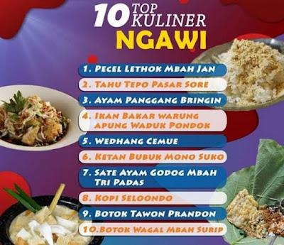 10 TOP KULINER NGAWI