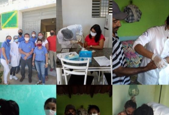 Testagem em Massa: Sec. de Saúde realiza testes para detectar contaminação por Covid-19 na Sede e Zona Rural de Cacimba de Areia